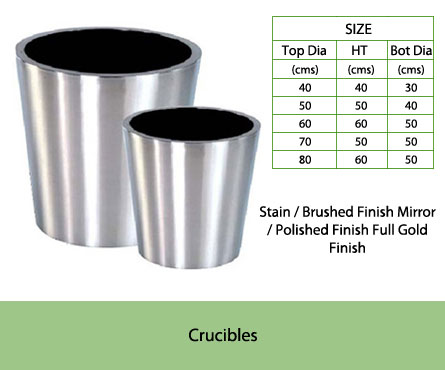 Stainless Steel Planters India Manufacturers